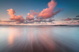 Colorful Sea Sky Clouds Hd