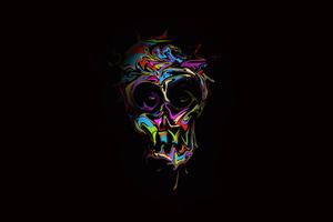 Colorful Skull Dark Art 4k Wallpaper