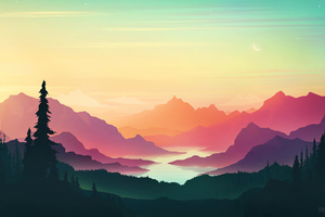 Colorful Sunset Minimal 4k Wallpaper