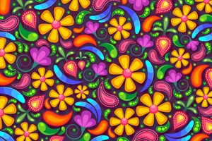 Colorful Texture Flowers 5k Wallpaper
