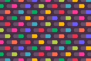 Colorful Texture Shapes Wallpaper