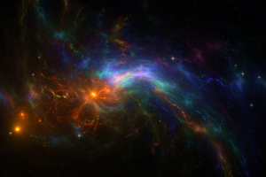 Colorful Wild Fire Space Nebula 4k Wallpaper