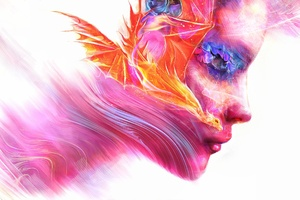Colorful Women Face Artwork Wallpaper