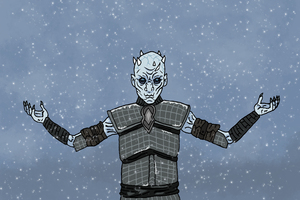 Come At Me Crow The Night King Artwork Wallpaper