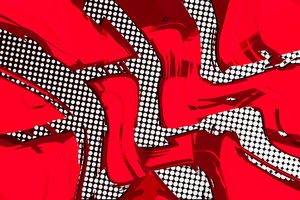 Comic Red Abstract 8k