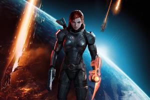 Commander Shepard Mass Effect 3 4k