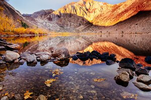 Convict Lake Autumn 4k Wallpaper