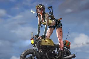 Cool Girl On Bike Wallpaper
