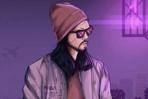 Cool Guy Glasses Art 5k Wallpaper