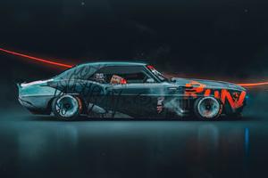 Cool Scifi Sticker Pimped Car