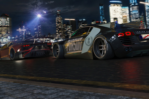 Cop Chase Supercars Pursuit 4k Wallpaper