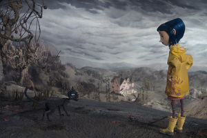 Coraline Cartoon Girl Wallpaper