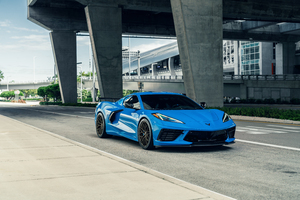 Corvette C8 AG MC Sick Blue 8k Wallpaper