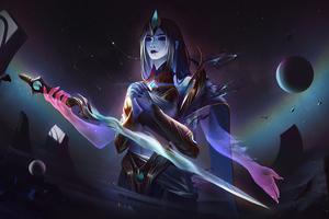 Cosmic Fiora League Of Legends Wallpaper