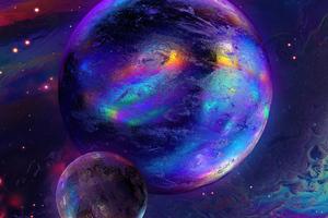 Cosmonaut Planet 4k