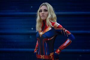 Cosplay Captain Marvel 5k Wallpaper
