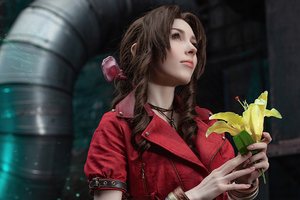 Cosplay Of Aerith Gainsborough Final Fantasy 4k