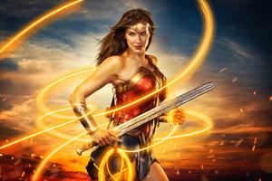 Cosplay Of Wonder Woman 8k Wallpaper
