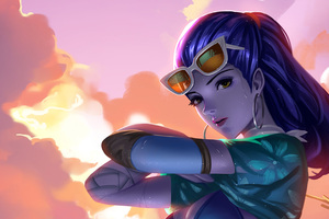 Cote Dazur Widowmaker Overwatch Artwork 4k
