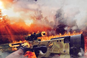 Counter Strike Dragon Lore Weapon 4k
