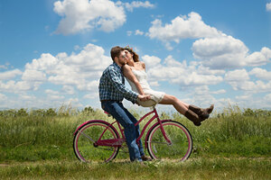 Couple Bike Romantic