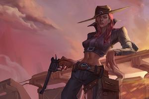 Cowgirl With Gun 4k Wallpaper
