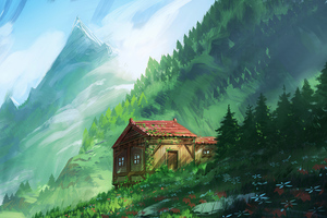 Cozy Little House In Mountains 4k Wallpaper