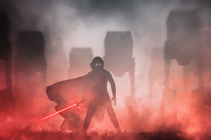 Crait Kylo Ren Star Wars Digital Art Wallpaper