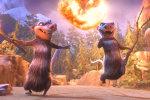 Crash and Eddie Ice Age Collision Course