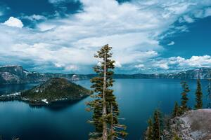 Crater Lake In Oregon 5k Wallpaper