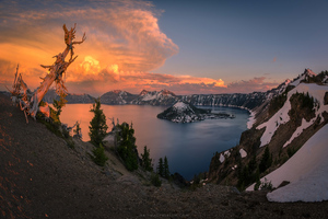 Crater Lake Oregon 4k Wallpaper