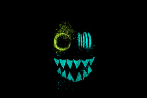 Crazy Neon Eye Teeth Wallpaper