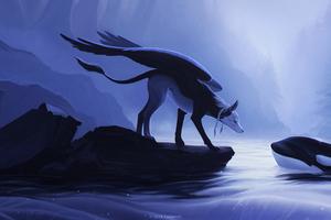 Creature Animals Love Fantasy Art 5k