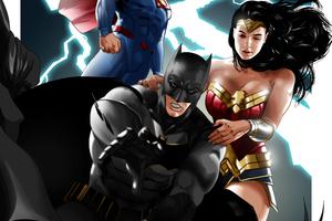 Crime Alley Batman Wonder Woman Superman 4k