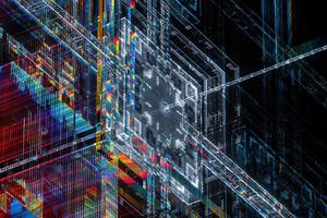 Crosschain Abstract 4k Wallpaper