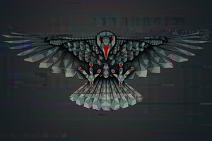 Crow Artistic Wallpaper