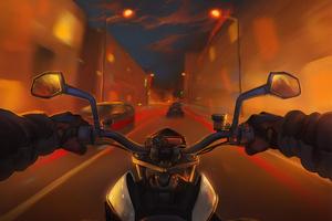 Cruising On Bike Wallpaper