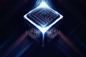 Cube Abstract Energy 4k