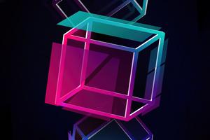 Cube Floater 5k Wallpaper