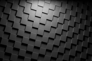 Cubes Dark Minimalism Wallpaper