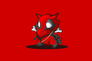 Cubone Pokemon Deadpool Minimalism 4k