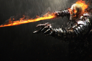 Cursed Ghost Rider Wallpaper