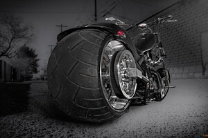 Custom Chooper Wide Tyre Wallpaper