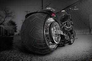 Custom Chooper Wide Tyre