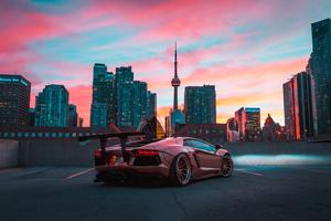 Custom Lamborghini Aventador In CN Tower