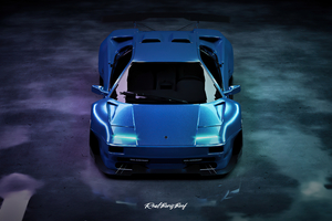 Custom Widebody Lamborghini Diablo Wallpaper