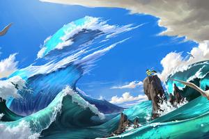 Cut The Waves Wallpaper