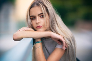 Cute Girl Blonde Hairs