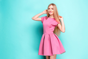 Cute Girl Pink Dress 8k Wallpaper