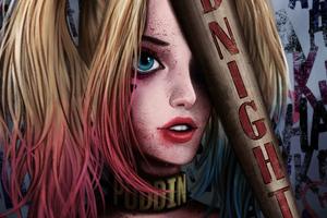 Cute Harley Quinn Arts Wallpaper